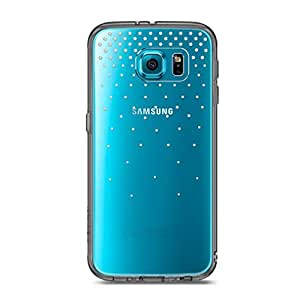 Galaxy S6 Edge Case - Ringke FUSION Noble Case [SNOW SMOKE BLACK] Handcrafted Crystal Rhinestone Bling Case Luxury Clear Back Shock Absorption Bumper Hard Case for Samsung Galaxy S6 Edge (Eco Package)