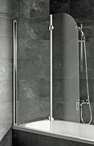 Schulte D3353 Badewannenaufsatz 2teilig, Echtglas Klar, Profilfarbe alunatur  BaumarktKundenbewertung: