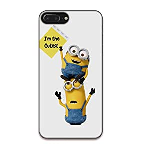 Happoz Apple Iphone 7 Plus Cases Back Cover Mobile Pouches Shell Hard Plastic Graphic Armour Premium Printed Designer Cartoon Girl 3D Funky Fancy Slim Graffiti Imported Cute Colurful Stylish Boys D110