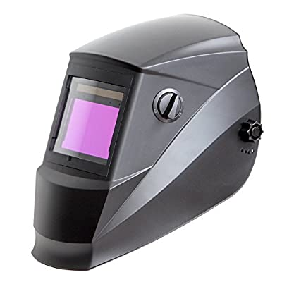 Antra Wide Shade Range 4/5-9/9-13 Large Viewing Size Solar Power Auto Darkening Welding Helmet with AntFi ADF with Grinding Feature Extra lens cover Good for Arc Tig Mig Plasma ANSI Certified By Colts Lab