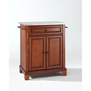 Crosley Furniture Newport Stainless Steel Top Portable Kitchen Island In Classic