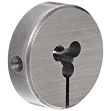 """Union Butterfield 2010(UNC) Carbon Steel Round Threading Die, Uncoated (Bright) Finish, 13/16"""" OD, #4-40 Thread Size"""