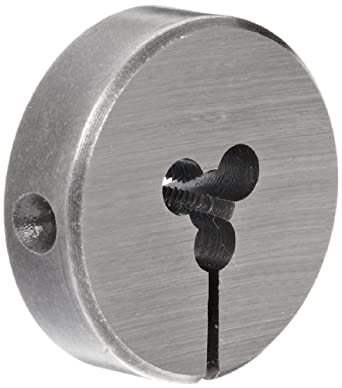 "Union Butterfield 2010(UNC) Carbon Steel Round Threading Die, Uncoated (Bright) Finish, 13/16"" OD, #4-40 Thread Size"