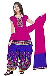 Dharmnandan Fashion Panghat Deep Pink color Cotton Woman's Fancya Dress Material