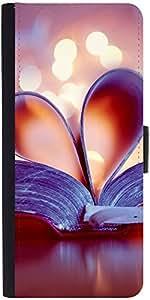 Snoogg Bookmark Love Heartdesigner Protective Flip Case Cover For Sony Xperia Z4