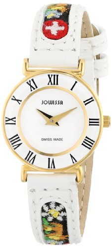Jowissa Roma Ethno Women's Quartz Watch with White Dial Analogue Display and White Leather Strap J2.035.S