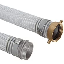 Unisource 1500 PVC Suction/Discharge Hose Assembly, MPT x NPSM Female Swivel Connection