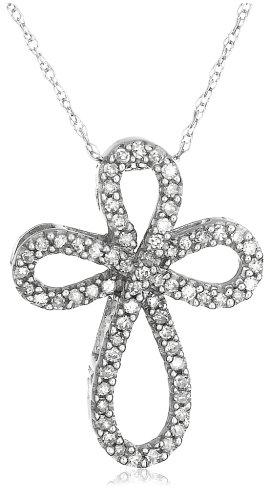 10k Gold Diamond Cross Pendant (1/5 cttw, I-J Color, I2-I3 Clarity)