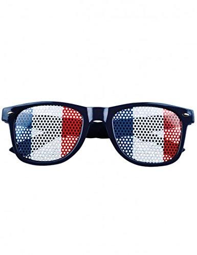 Lunettes supporter avec drapeau France adulte