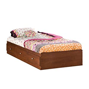 South Shore Furniture Jumper Collection 39-Inch Twin-Size Mates Bed Classic Cherry
