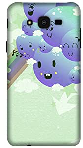 The Racoon Lean printed designer hard back mobile phone case cover for Samsung Galaxy J7. (Monster Bl)