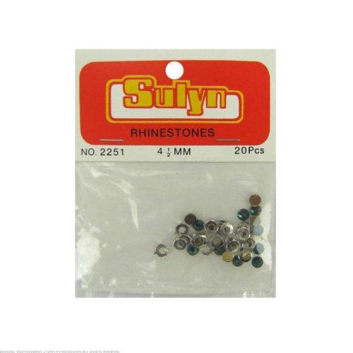 24 20pc 4.5mm rhinestones