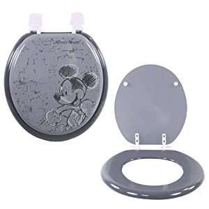 Disney mickey mouse abattant wc couleur gris montage facile standard en b - Abattant wc taille non standard ...