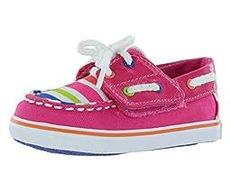 Sperry Top-Sider Bahama JR Crib Boat Shoe (Infant/Toddler),Pink Stripe,2 M US Infant