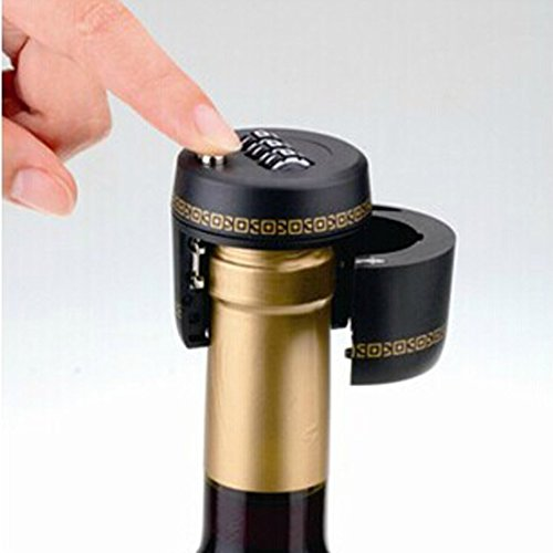 Wine Bottle Combo Lock - Keeps Your Alcohol Safe - Alcohol Bottle Stoppers - Locking Bottle Top - Wine Bottle Lock By Solly's Health Shop