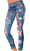 Balingi Damen Leggings mit Tattoo Print BA10092