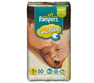 Pampers - Pampers New Baby Nouveau né Dry Max- Format Géant x 50