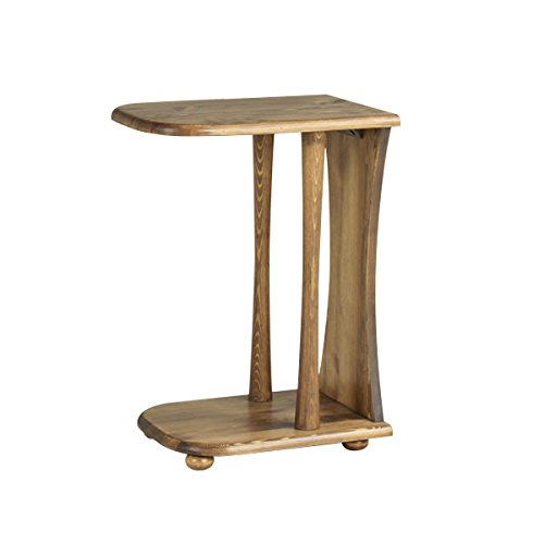 arne マガジンラック 木製 アンティーク調 ミニ 机 コの字 arcⅡ サイドテーブル H600 ブラウン