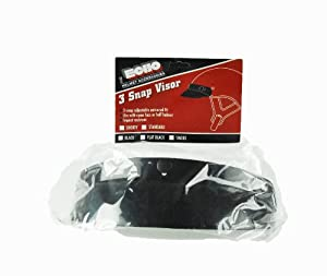 Vega Echo Standard 3 Snap Visor for Motorcycle Helmet (Gloss Black) by Vega