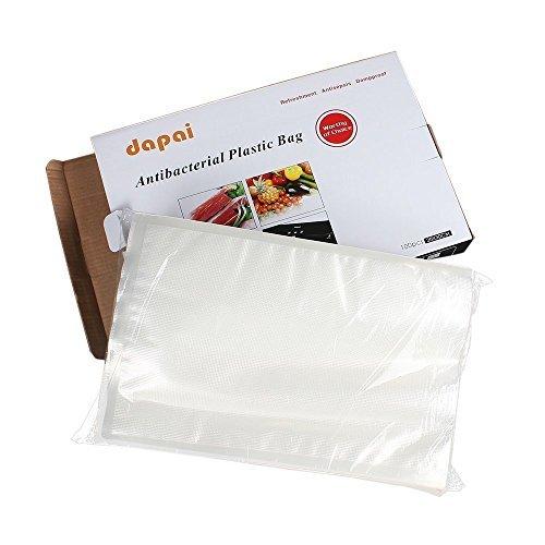 Dapai Deluxe Automatic Vacuum Sealer Food Storage Bag (100, 8 X 12) (Food Storage Bag Sealer compare prices)