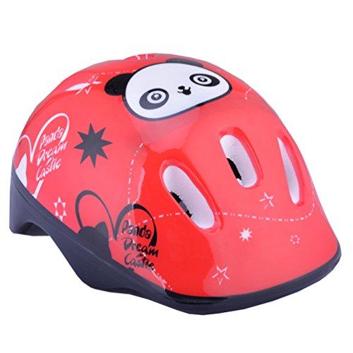 Topsung Child Multi-sport Helmet Panda Pattern Red