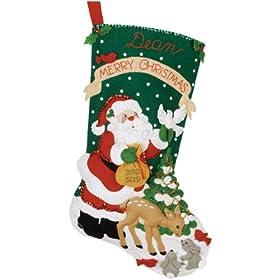 Bucilla Christmas Feast Stocking Kit [Warning: Choking hazard small parts]