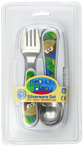 Stephen Joseph Fork and Spoon Set, Monkey