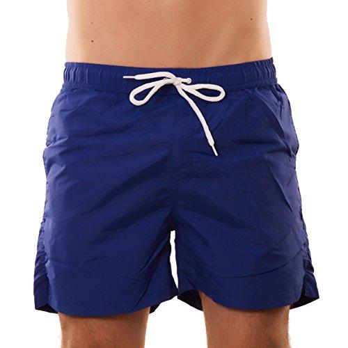 Bermuda uomo costume FLUO pantaloncini mare boxer swimsuit nuovi N3033[BLU,M]