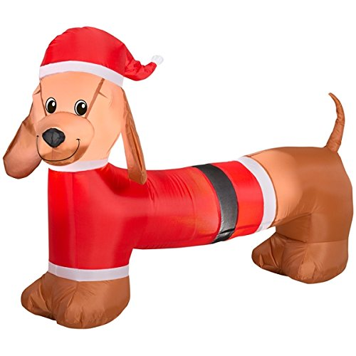 Inflatable Dachshund Christmas Decoration