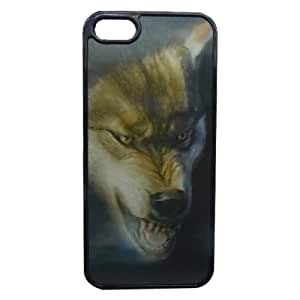 3D Effect Wolf Head Patterned Back Guard Case Cover for Apple iPhone 5
