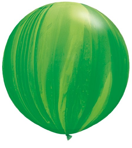 "PIONEER BALLOON COMPANY 63757 Superagate Latex Balloon, 30"", Green Rainbow"