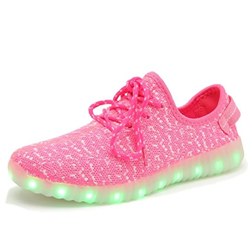 Joansam 7 Colors LED Luminous Unisex Sneakers Men & Women USB Charging Light Colorful Glowing Leisur