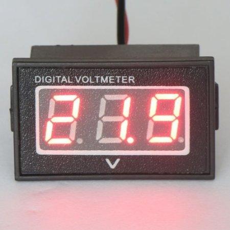 """Riorand 0.56"""" Waterproof Dc 15-120V Digital Voltmeter Voltage Measurement Gauge Red Led Panel Volt Meters"""