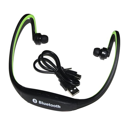 Sino Sports Wireless Bluetooth Headset Headphone Earphone For Cell Phone Iphone Laptop Pc(Green)