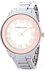 Anne Klein Women's Rose Gold-Tone Dial AK/1755SVRT Quartz Watch