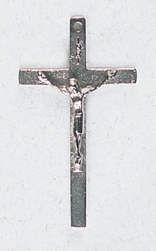 Small Crucifix - Latin Cross - Pendant - 1 and 1/2in. Height - IMPORTED FROM ITALY