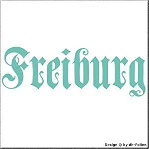 cartattoo4you AK-01584 | FREIBURG - Fraktur / Altdeutsche Schrift | Autoaufkleber Aufkleber FARBE mint , in 23 weiteren Farben erhältlich , glänzend 17 x 5 cm in PREMIUM - Qualität Waschstrassenfest VERSANDKOSTENFREI