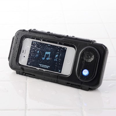 Sanwa Direct Iphone Smartphone Waterproof Speakers (With Stand Function 2W Battery-Powered) 400-Sp036Bk (Japan Import)