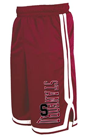 Buy NCAA Stanford Cardinal Mens Long Mesh Pocket Short by Russell Athletic
