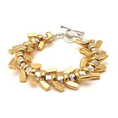 Mixed Wingnut Bracelet by Alice Menter||RF10F