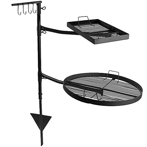 Sunnydaze Dual Campfire Cooking Swivel Grill System (Campfire Cooking Stand compare prices)