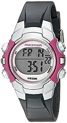 Timex Women's T5K646M6 Marathon Digital Watch With Grey Resin Band