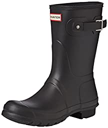 Hunter Womens Original Short Black Rain Boot - 8