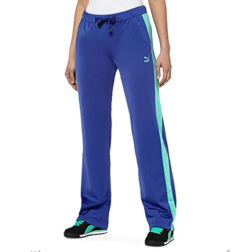 PUMA Women's T7 Track Pants, Spectrum Blue/Electric Green, X-Large