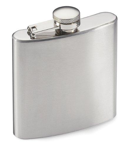Gelert Steel Hip Flask - Stainless Steel - Silver