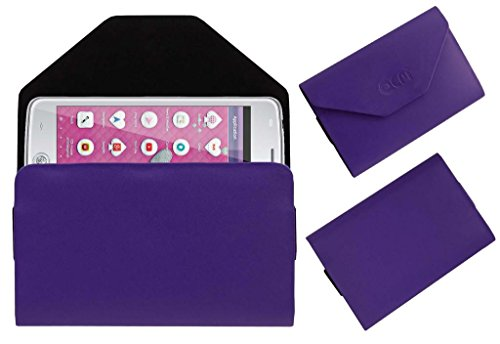 Acm Premium Pouch Case For Iball Andi Uddaan Flip Flap Cover Holder Purple  available at amazon for Rs.179