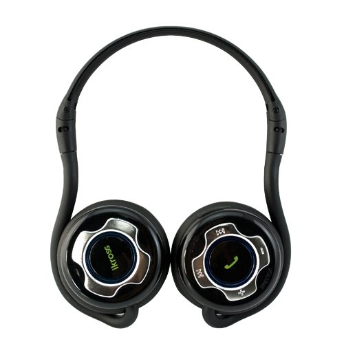 iKross A2DP Bluetooth Stereo Headphone Headset with Black Carrying Case - Supports Wireless Music Streaming and Hands-Free calling for Smart Phones