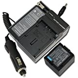 NEW Battery+Charger for Hitachi DVD Camcorder DZ-BX35A Video Camera CGA-DU07 NEW