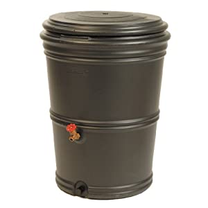 Earthminded RS-0001 Rain Station, Recycled Rain Barrel, 60 Gallon (Discontinued by Manufacturer)