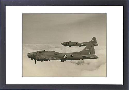 Framed Artwork of Two Boeing B-17E Flying Fortress, 41-9131 and 41-9141
